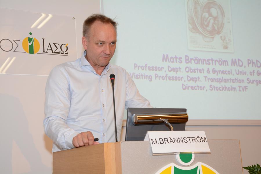 Prof. MatsBrännström, Καθηγητής Μαιευτικής / Γυναικολογίας στο Πανεπιστήμιο Gothenburg Σουηδίας.