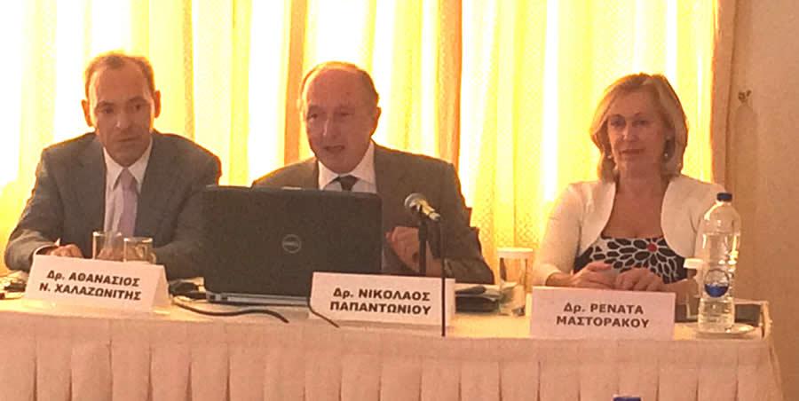 O Πρόεδρος της Επιστημονικής Επιτροπής:  Δρ. Αθανάσιος Ν. Χαλαζωνίτης  Ο Πρόεδρος του Συνεδρίου,  Δρ. Νικόλαος Παπαντωνίου  Από την Συνέντευξη Τύπου