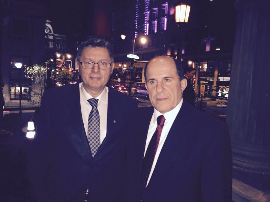 ο Πρόεδρος της ΕΚΕ κ. Στέφανου Φούσας με τον Καθηγητή κ. Πλέστη.