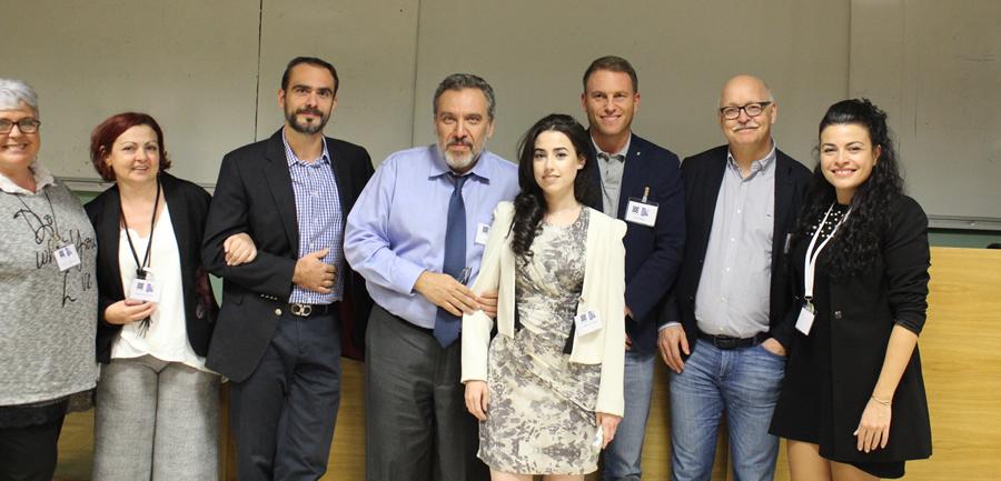 Μέλη του board της οικογενειακής συμμαχίας , και μερικοί γιατροί μας, από αριστερά προς τα δεξιά, δρ. Βουγιούκας  βασ, δρ. Ηλιόπουλος Όθων, dr. Beatriz. Gonzalez, dr. Sven Glausken , dr. Martin  Walz.