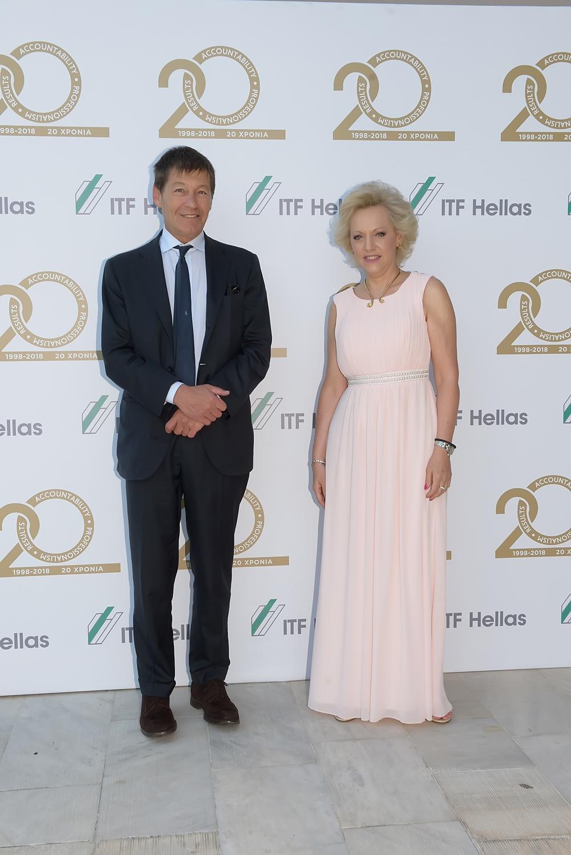 Η κ. Πόλυ Λεονταρίδη, Διευθύνουσα Σύμβουλος της Italfarmaco Ελλάδος με τον κ. Francesco De Santis, Πρόεδρο του ΔΣ της Italfarmaco