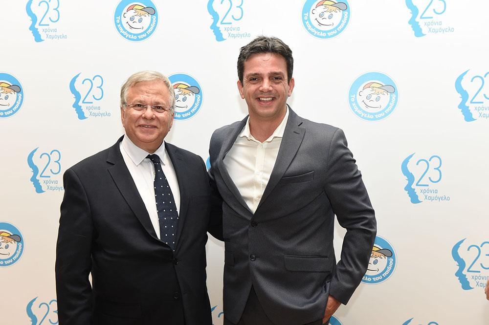 Από αριστερά: Ο Πρόεδρος του Δ.Σ. του Οργανισμού «Το Χαμόγελο του Παιδιού» κ. Κώστας Γιαννόπουλος με τον Πρόεδρο & Διευθύνοντα Σύμβουλο της Affidea Ελλάδος κ. Θεόδωρο Καρούτζο.