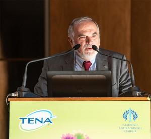 Ο Πρόεδρος της Ελληνικής Αντικαρκινικής Εταιρείας , κος Ευάγγελος Φιλόπουλος