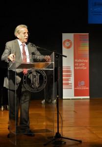 ο Πρόεδρος του Συνεδρίου, κύριος Παναγιώτης Μπεχράκης,