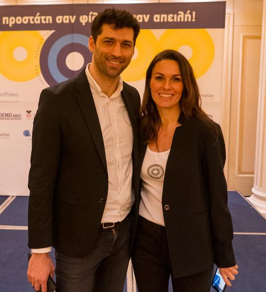 Από αριστερά: Αλέξης Παππάς ηθοποιός, Ιωάννα Παπαδημητρίου μοντέλο με διεθνή καριέρα - εκπρόσωπος «Στόχος – Πρόληψη» (photo by Mike Tsolis)