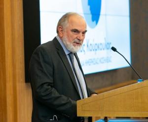 ο Πρόεδρος του Δ.Σ. της Ελληνικής Αντικαρκινικής Εταιρείας κ. Βαγγέλης Φιλόπουλος.